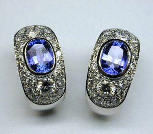 Tanzanite and diamond ear cuffs